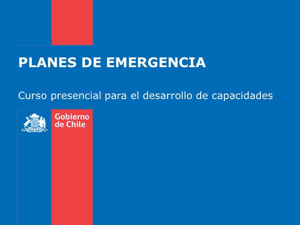 PLANES DE EMERGENCIA Curso presencial para el desarrollo de capacidades
