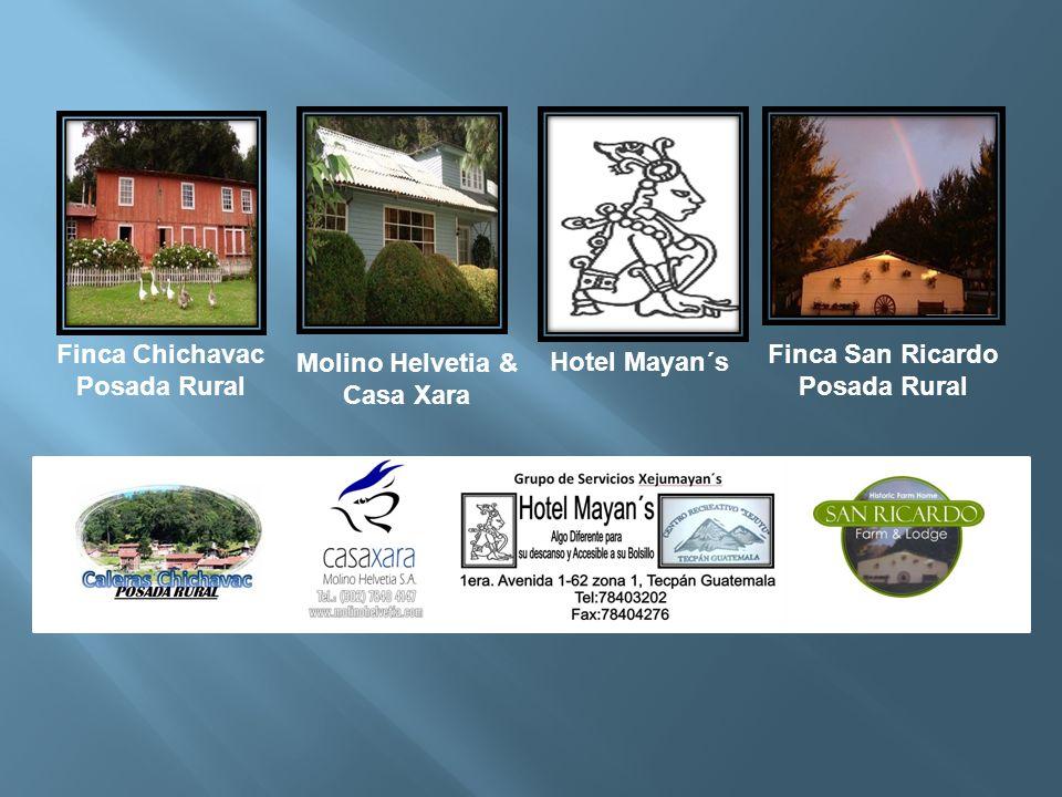 Finca San Ricardo Posada Rural Hotel Mayan´s Finca Chichavac Posada Rural Molino Helvetia & Casa Xara