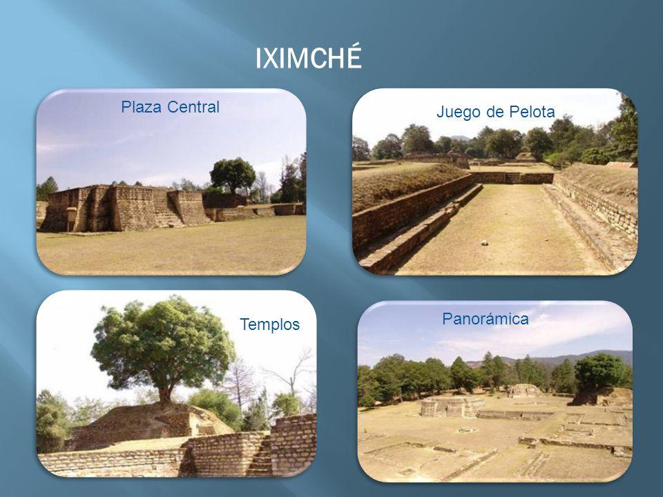 IXIMCHÉ Plaza Central Templos Panorámica Juego de Pelota
