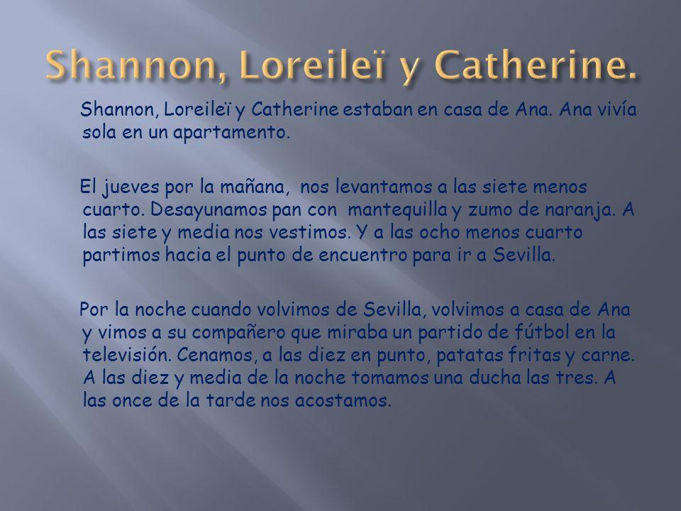 Shannon, Loreileï y Catherine estaban en casa de Ana.