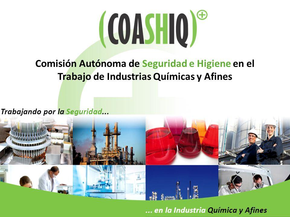 Comisión Autónoma de Seguridad e Higiene en el Trabajo de Industrias Químicas y Afines Trabajando por la Seguridad...... en la Industria Química y Afi