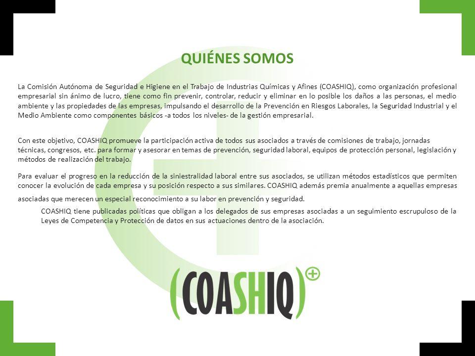 QUIÉNES SOMOS La Comisión Autónoma de Seguridad e Higiene en el Trabajo de Industrias Químicas y Afines (COASHIQ), como organización profesional empre