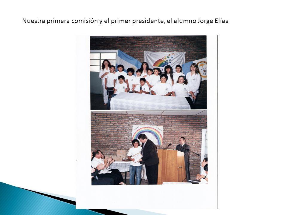 Nuestra primera comisión y el primer presidente, el alumno Jorge Elías