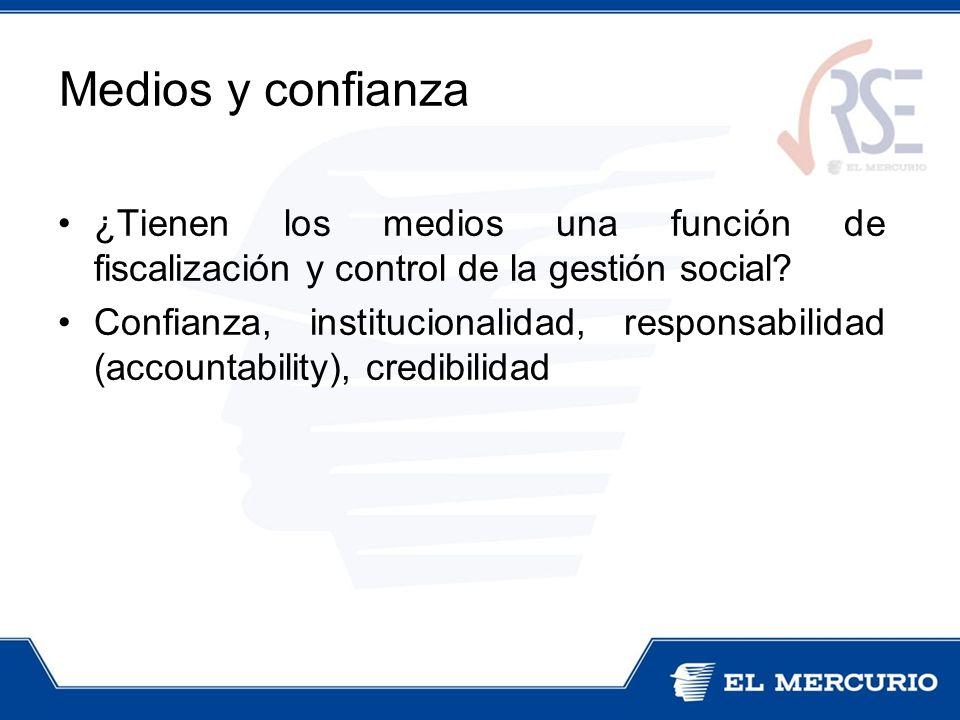 ¿Tienen los medios una función de fiscalización y control de la gestión social? Confianza, institucionalidad, responsabilidad (accountability), credib