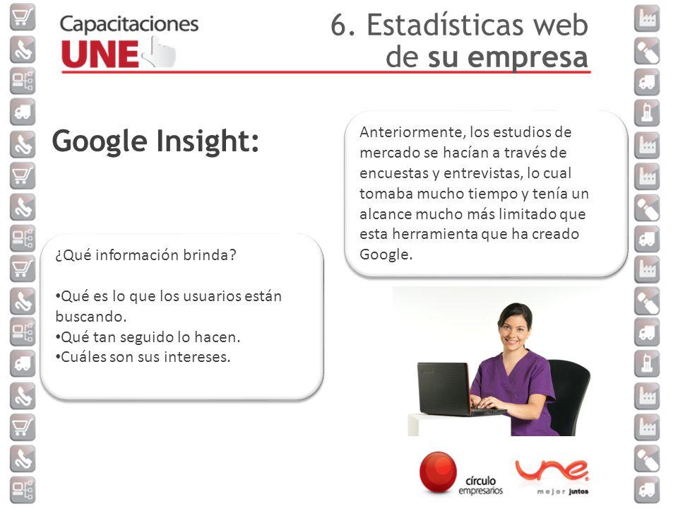 Google Insight: ¿Qué información brinda.Qué es lo que los usuarios están buscando.