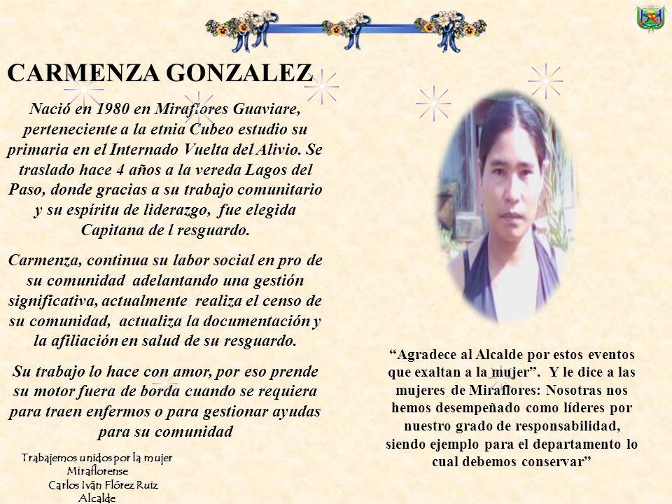 Nació en Boyacá, en 1964, hace 22 años llegó al Municipio, donde inició su labor como partera y gestora de salud. Actualmente vive en la vereda Caño G