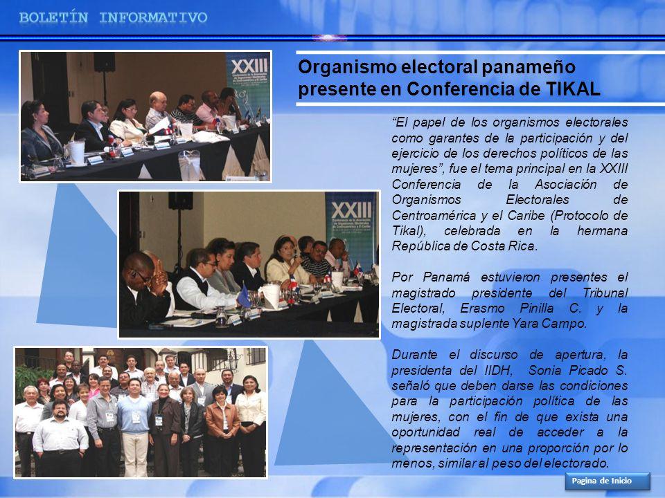 Organismo electoral panameño presente en Conferencia de TIKAL El papel de los organismos electorales como garantes de la participación y del ejercicio