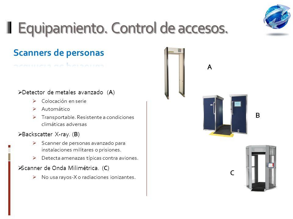 Equipamiento.Control de accesos.