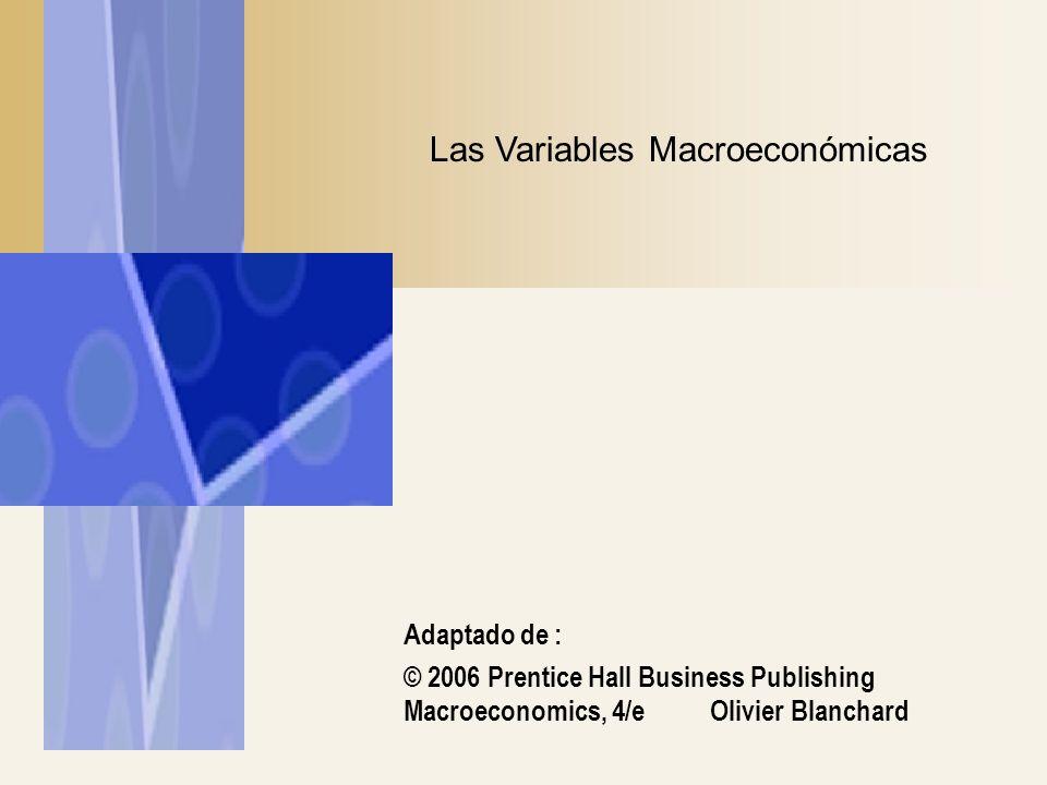 Adaptado de : © 2006 Prentice Hall Business Publishing Macroeconomics, 4/e Olivier Blanchard Las Variables Macroeconómicas
