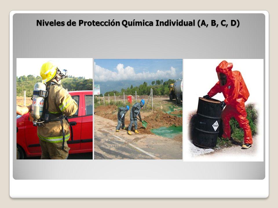 Niveles de Protección Química Individual (A, B, C, D)