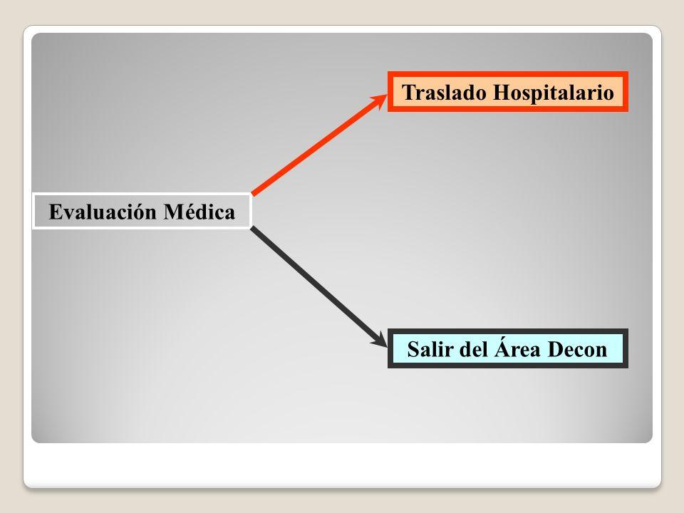 Evaluación Médica Traslado Hospitalario Salir del Área Decon