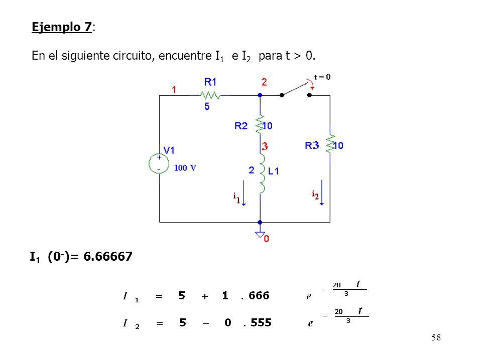 57 Análisis transitorio R1 1 2 1k R2 2 3 1k R3 3 0 1k V1 1 0 DC 30 C1 3 0 1u IC=10 V2 2 0 SIN (0 1 318.309886 0 0 0) ** configuración del análisis **.