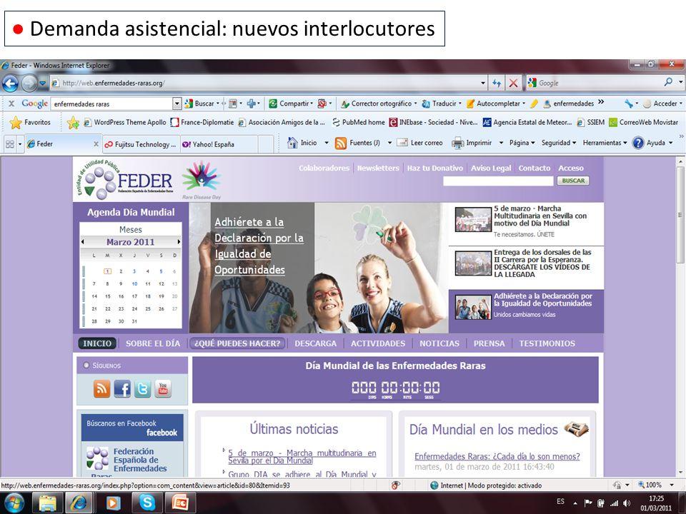 Demanda asistencial: nuevos interlocutores
