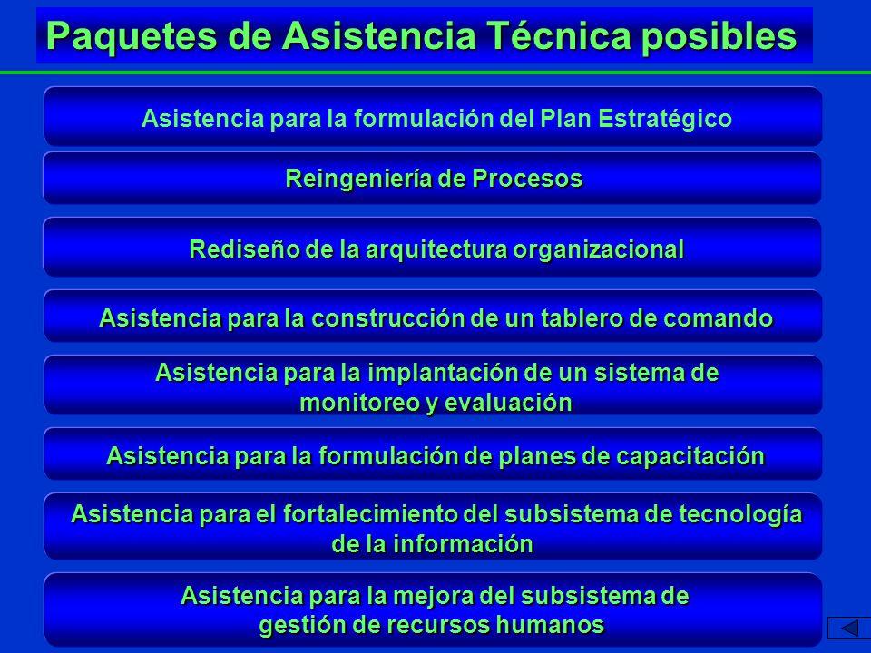 Asistencia para la mejora del subsistema de gestión de recursos humanos Asistencia para el fortalecimiento del subsistema de tecnología de la informac
