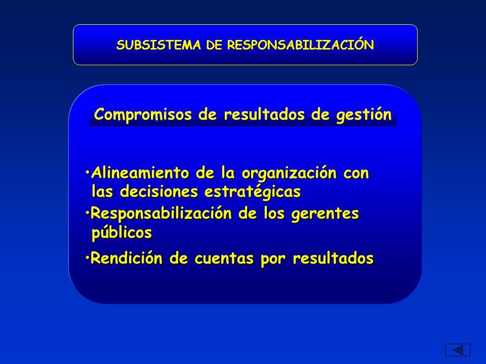 Alineamiento de la organización conAlineamiento de la organización con las decisiones estratégicas las decisiones estratégicas Responsabilización de l