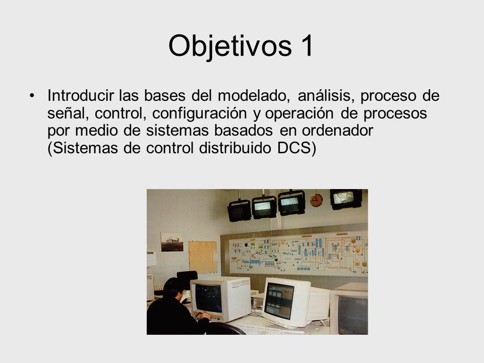 Objetivos 1 Introducir las bases del modelado, análisis, proceso de señal, control, configuración y operación de procesos por medio de sistemas basado