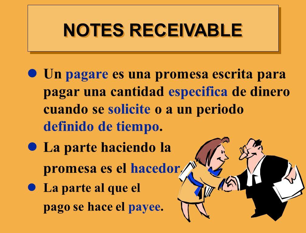Un pagare es una promesa escrita para pagar una cantidad especifica de dinero cuando se solicite o a un periodo definido de tiempo. La parte haciendo