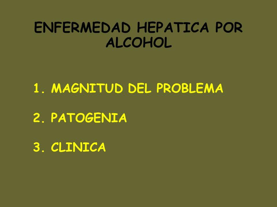 RELACIONES ALCOHOL/ENDOTOXINAS aumento de endotoxinas circulantes en pacientes alcohólicos aumento de endotoxinas circulantes en ratas sometidas a administración crónica de EtOH sobrepoblación intestinal gram(-) en alcohólicos aumento permeabilidad intestinal por EtOH PATOGENIA DEL DAñO HEPATICO POR ALCOHOL