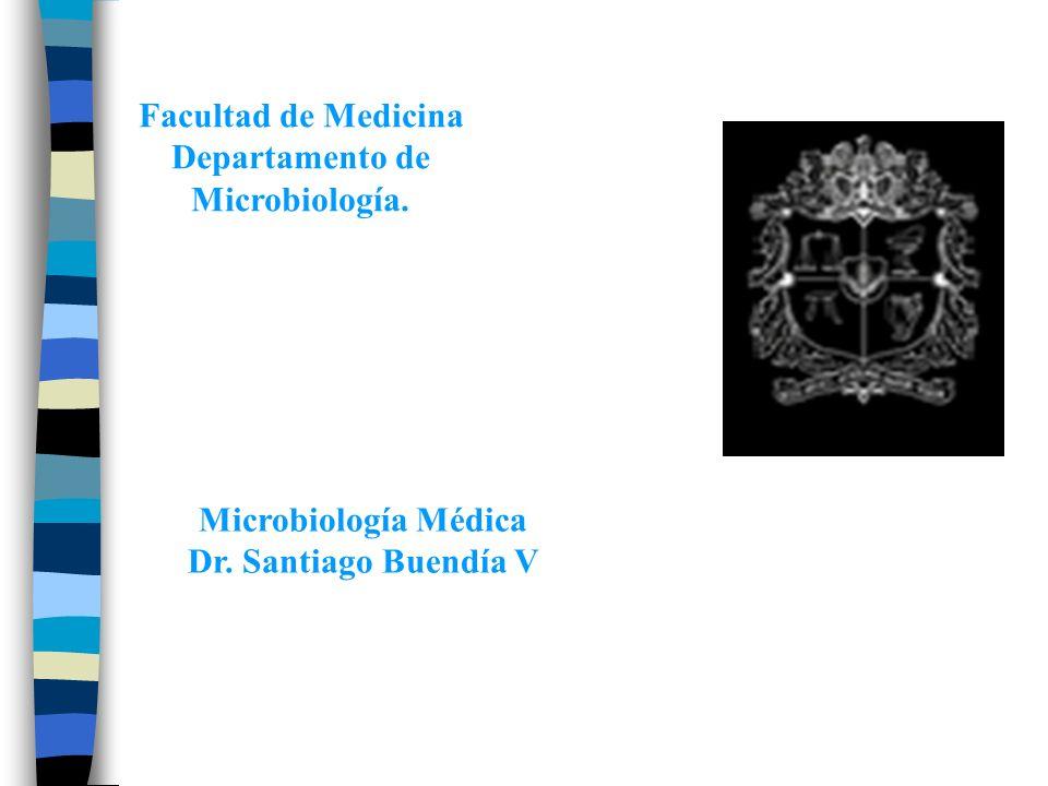 Facultad de Medicina Departamento de Microbiología. Microbiología Médica Dr. Santiago Buendía V