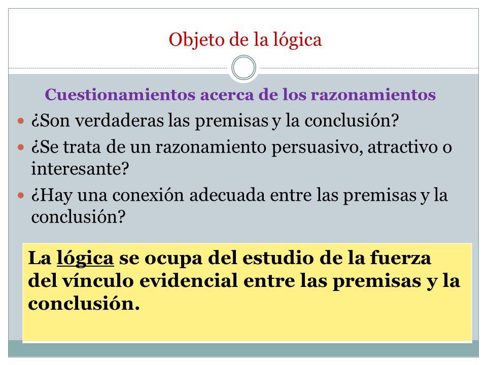 Razonamientos deductivos Razonamientos deductivos: La conclusión se sigue necesariamente de las premisas.