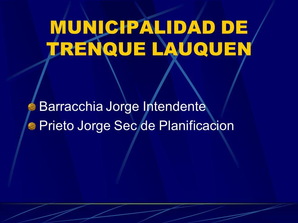 MUNICIPALIDAD DE TRENQUE LAUQUEN Barracchia Jorge Intendente Prieto Jorge Sec de Planificacion