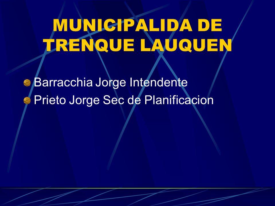MUNICIPALIDA DE TRENQUE LAUQUEN Barracchia Jorge Intendente Prieto Jorge Sec de Planificacion