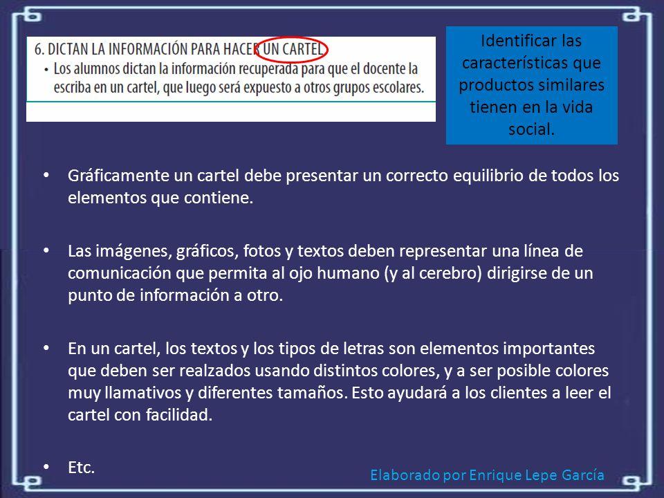 Elaborado por Enrique Lepe García Identificar las características que productos similares tienen en la vida social.