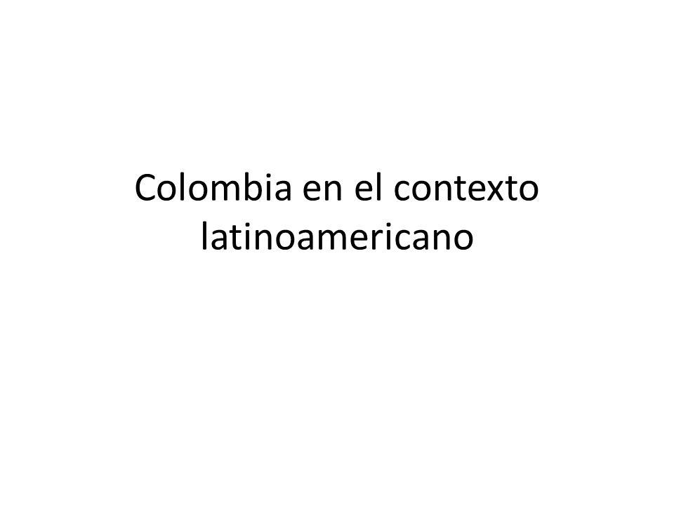 Colombia en el contexto latinoamericano