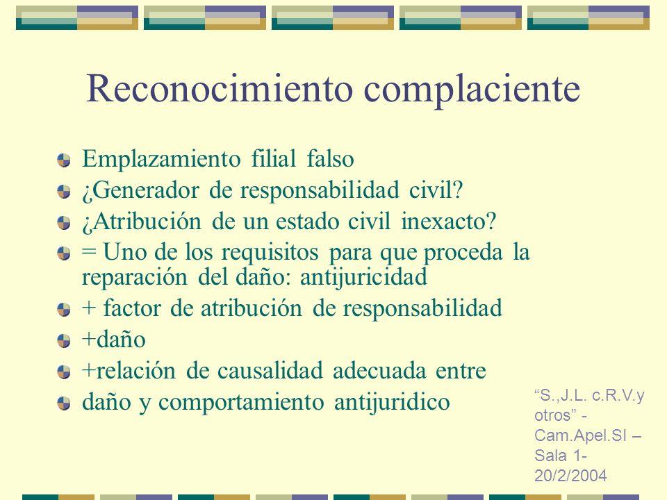 Reconocimiento complaciente Emplazamiento filial falso ¿Generador de responsabilidad civil.