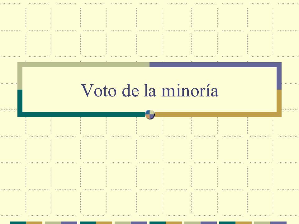 Voto de la minoría