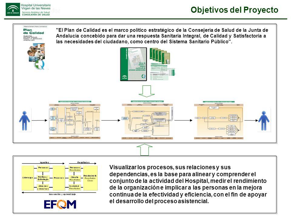 El proyecto: Fases DESARROLLO DEL MODELO DE PROCESOS DESARROLLO DEL MODELO DE PROCESOS Modelo diseñado IMPLANTACIÓN PILOTO DE LA GESTIÓN DE PROCESOS IMPLANTACIÓN PILOTO DE LA GESTIÓN DE PROCESOS CONSOLIDACION DE LA GESTIÓN POR PROCESOS CONSOLIDACION DE LA GESTIÓN POR PROCESOS Mejora continua iniciada