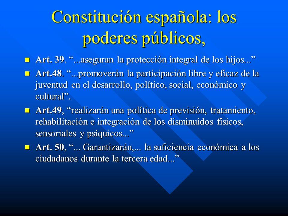 Constitución española: los poderes públicos, Art. 39....aseguran la protección integral de los hijos... Art. 39....aseguran la protección integral de