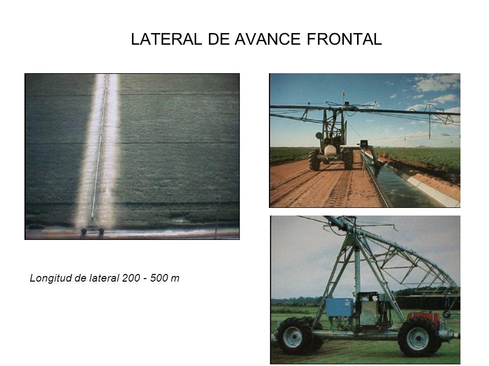 LATERAL DE AVANCE FRONTAL Longitud de lateral 200 - 500 m