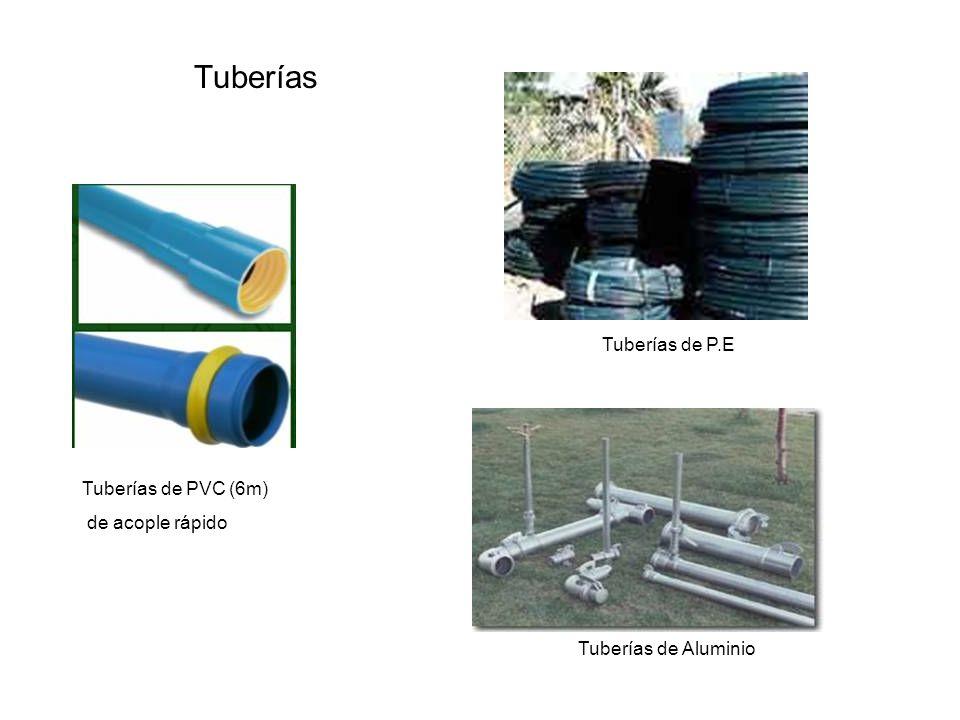 Tuberías Tuberías de PVC (6m) de acople rápido Tuberías de P.E Tuberías de Aluminio