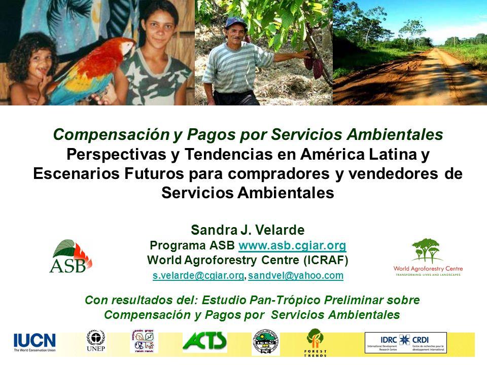Con resultados del: Estudio Pan-Trópico Preliminar sobre Compensación y Pagos por Servicios Ambientales Compensación y Pagos por Servicios Ambientales