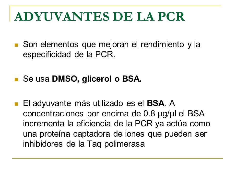 Reactivos necesarios para PCR: Cebadores primers: Son secuencias cortas de nucleótidos 20-24 nucleótidos de longitud, complementarias a una región del