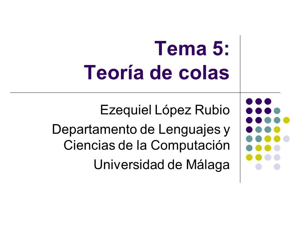 Tema 5: Teoría de colas Ezequiel López Rubio Departamento de Lenguajes y Ciencias de la Computación Universidad de Málaga