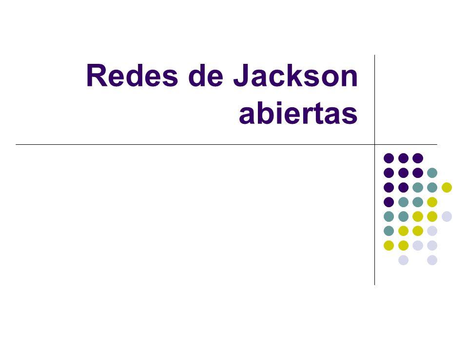 Redes de Jackson abiertas