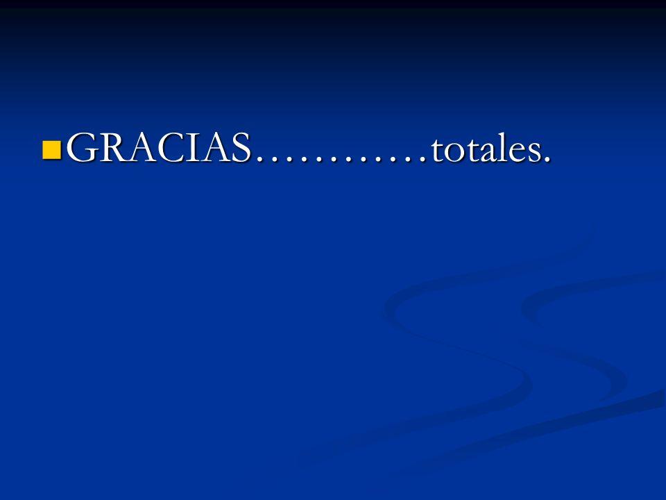 GRACIAS…………totales. GRACIAS…………totales.