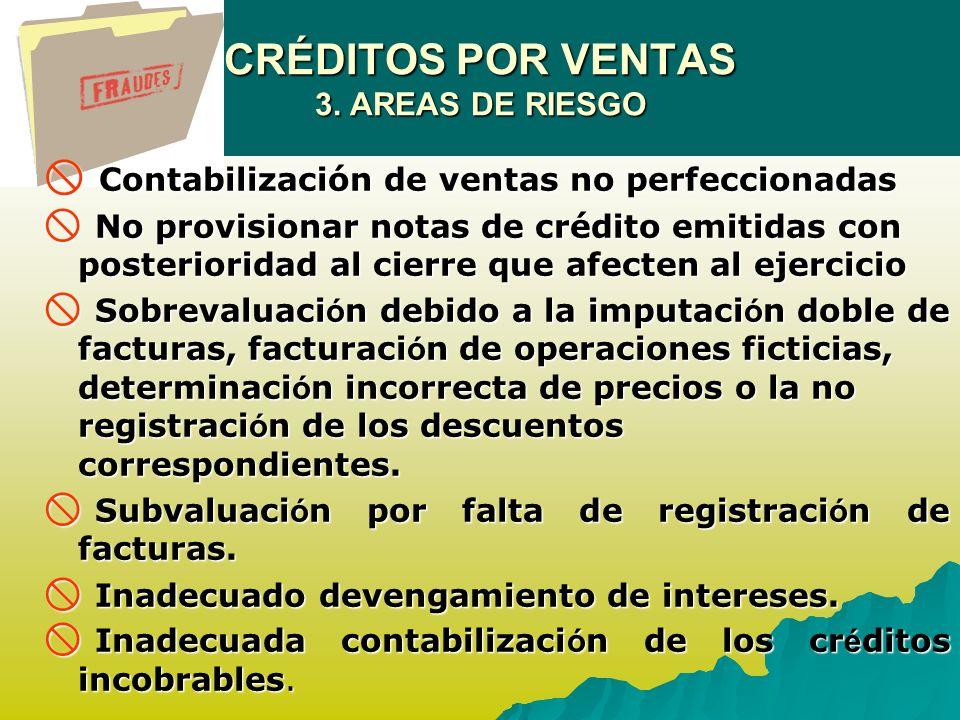 CRÉDITOS POR VENTAS 3.