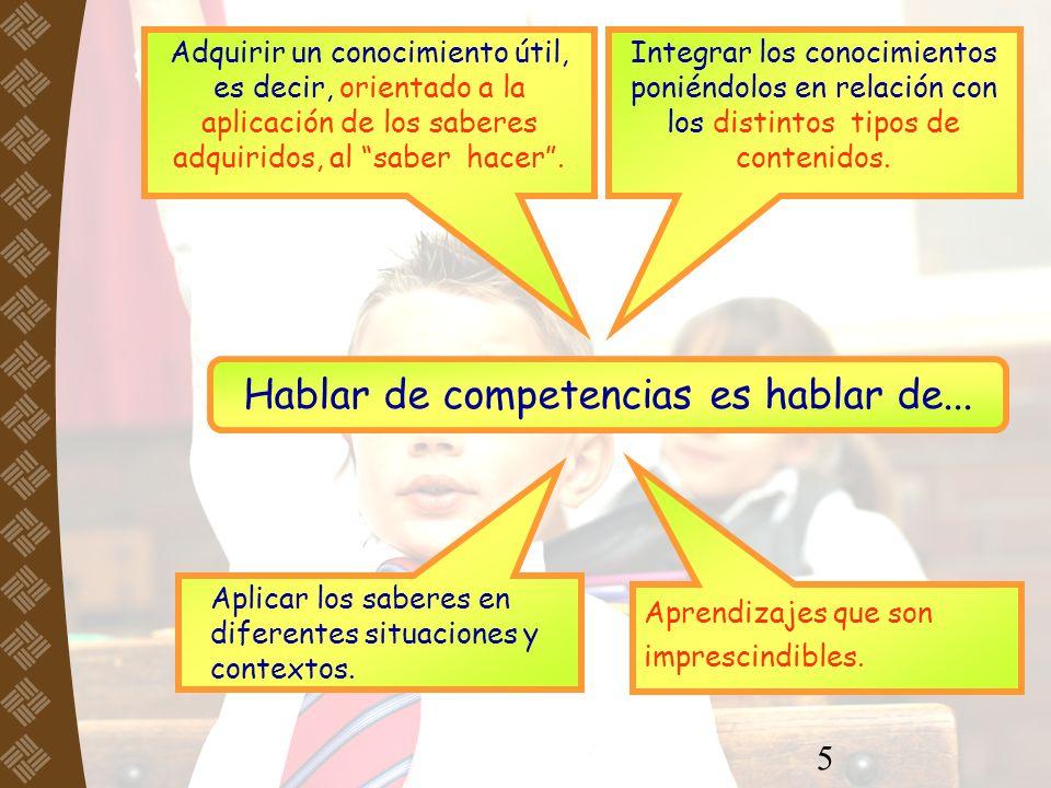 6 Son aquellas que deben integrar los estudiantes Al terminar la educación básica Competencias para la vida