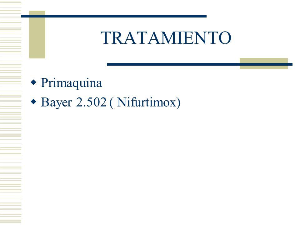 TRATAMIENTO Primaquina Bayer 2.502 ( Nifurtimox)