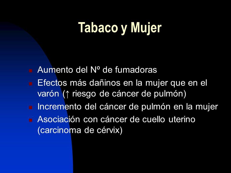Cáncer de pulmón Exfumadores: necesitan 10-15 años de abstinencia para tener un riesgo de cáncer de pulmón semejante a los no fumadores Persistencia h