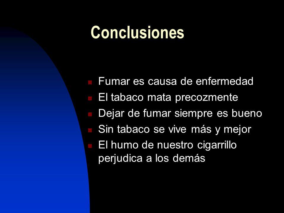 Fumar es una adicción Dejar de fumar es el tratamiento prioritario en todas las entidades relacionadas con el tabaco Posturas antitabaco excesivamente