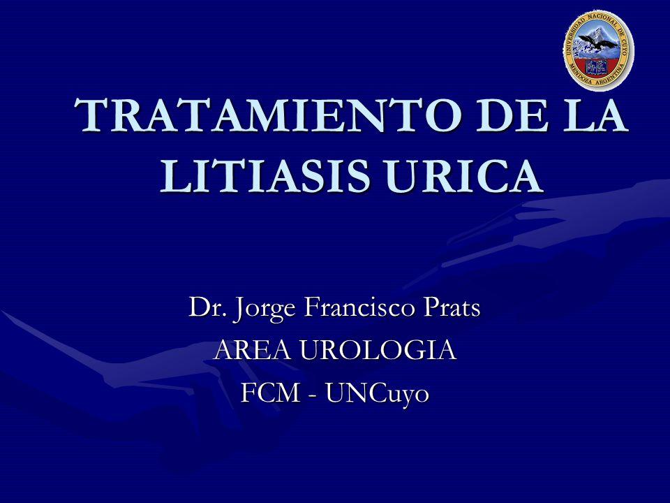 TRATAMIENTO DE LA LITIASIS URICA Dr. Jorge Francisco Prats AREA UROLOGIA FCM - UNCuyo