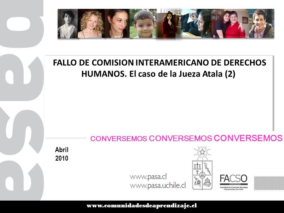 www.comunidadesdeaprendizaje.cl FALLO DE COMISION INTERAMERICANO DE DERECHOS HUMANOS.