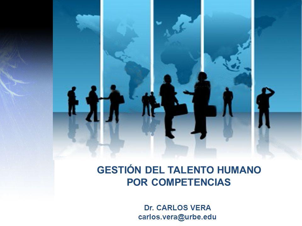 Dr. CARLOS VERA carlos.vera@urbe.edu GESTIÓN DEL TALENTO HUMANO POR COMPETENCIAS
