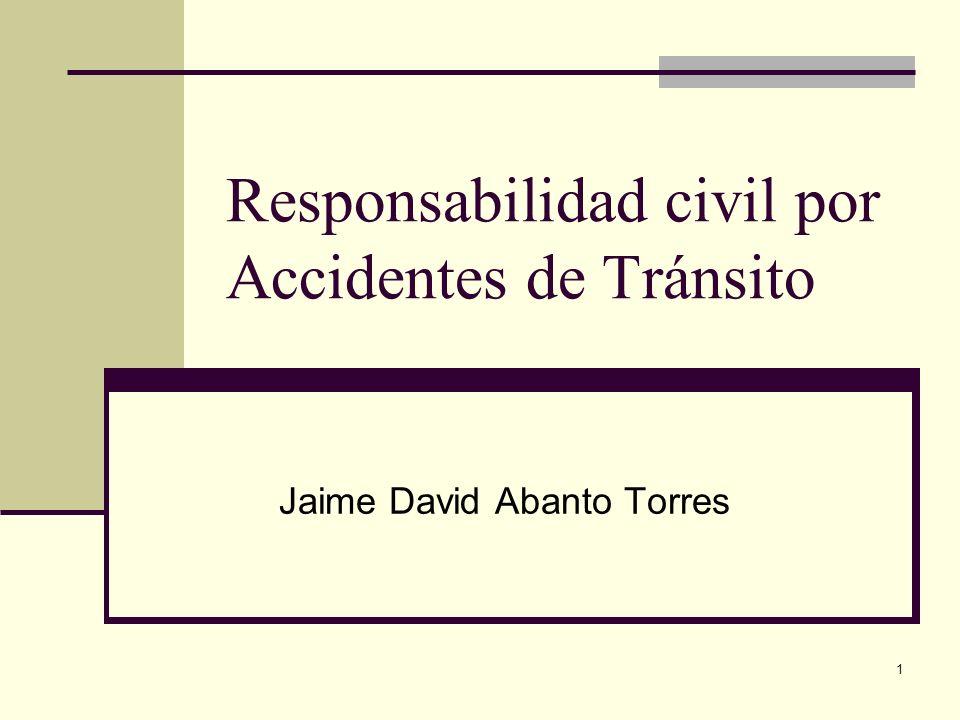 12 Responsabilidad civil Artículo 29.- De la responsabilidad civil La responsabilidad civil derivada de los accidentes de tránsito causados por vehículos automotores es objetiva, de conformidad con lo establecido en el Código Civil.