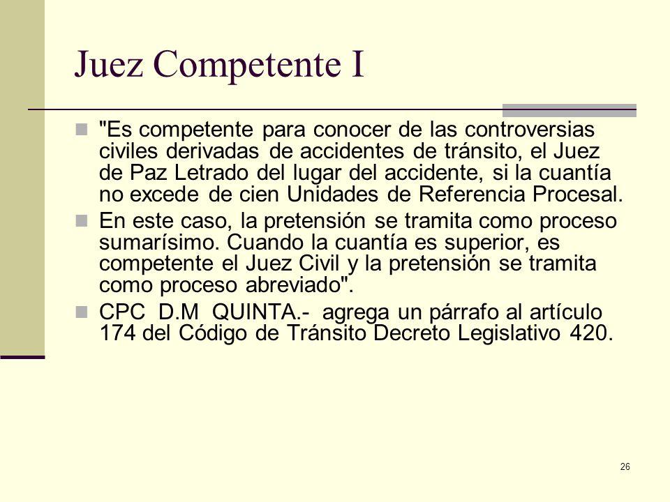 26 Juez Competente I