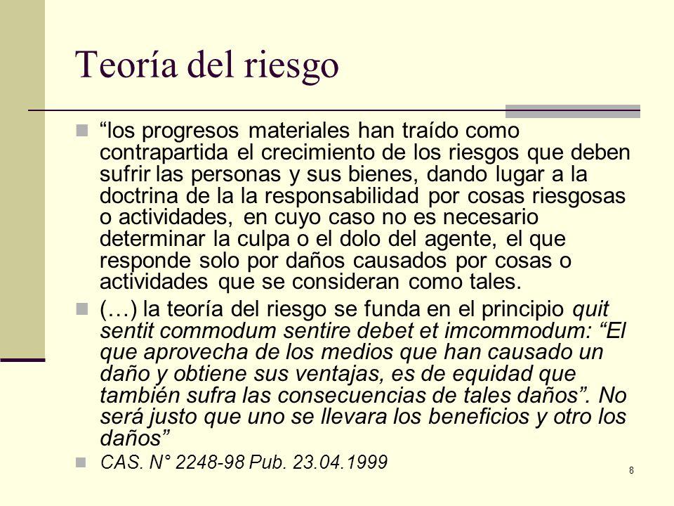 8 Teoría del riesgo los progresos materiales han traído como contrapartida el crecimiento de los riesgos que deben sufrir las personas y sus bienes, d